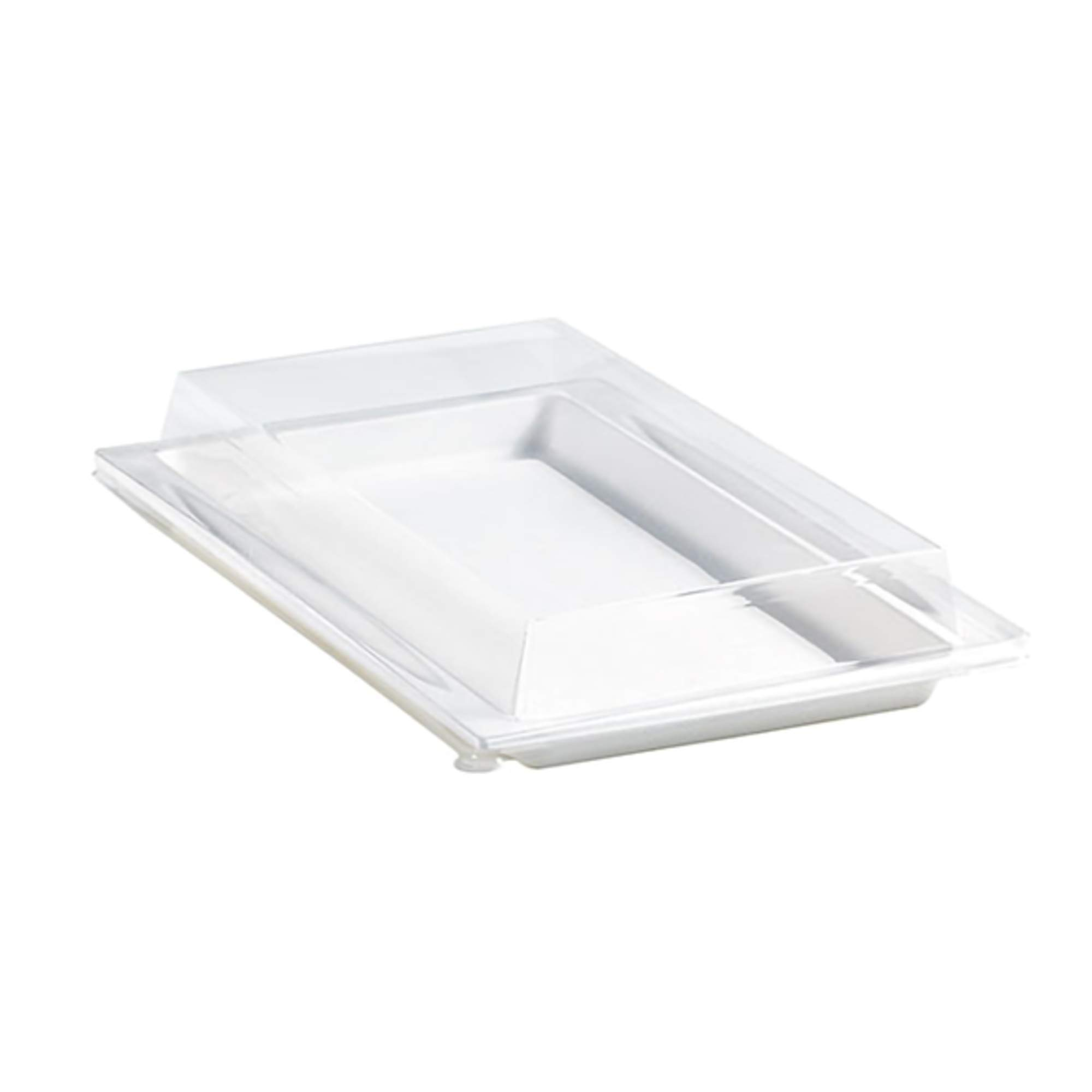 """Clear Plastic Lid (Case of 100), PacknWood - Recyclable Tray Cover for (210APUTRP12) Sugarcane Trays (10.6"""" x 7.6"""") 210APUTRPL13"""