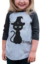 7 ate 9 Apparel Youth Black Cat Halloween Shirt