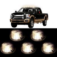 cciyu For GMC Pickup Trucks 5x 9069A Smoke Cab Running marker Light Lamp Lens + 5x free 168 LED bulb Warm White For 1973-1987 Chevrolet C/K Series Full Size PICKUP Trucks