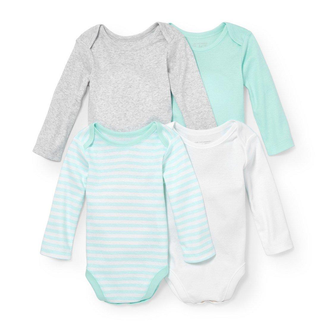 The Children's Place Baby Boys' Infant Unisex Long Sleeve Bodysuit Bundle