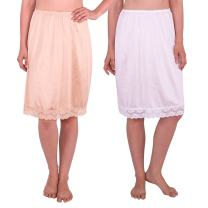 Under Moments Half Slip with Lace Details, Anti- Static 2PACK