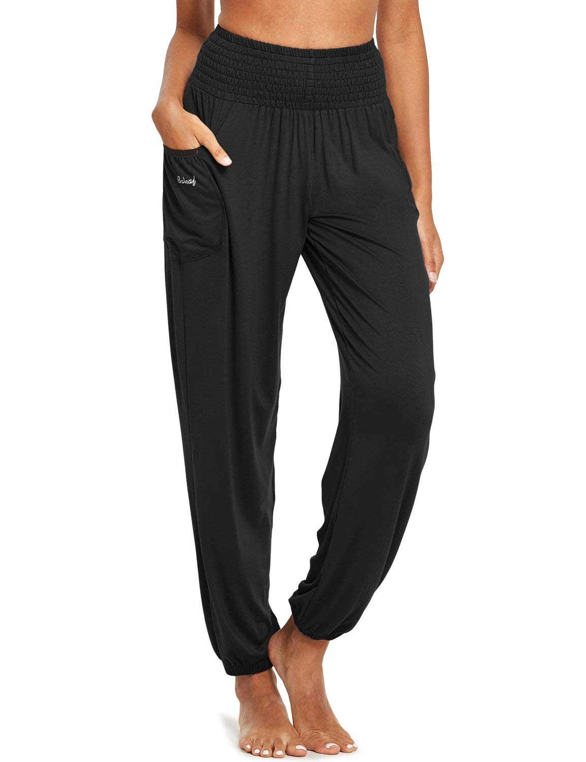 BALEAF Women's Bohemian Harem Pants Lightweight Loose Tapered Yoga High Waisted Travel Beach Sweatpants Pajama