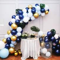 Navy Blue and Gold Balloons 58PCS DIY Royal Blue Balloon Garland Arch Kit, 16 Ft Strip for Thanksgiving Day, Baby Shower, Boy Birthday Party Decorations