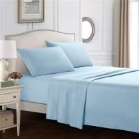 kissnite Bed Sheet Set, Brushed Microfiber 1800 Bedding, Easy Fit Breathable Sheets, 4 Piece Bedding Sets, 16 Inch Elasticized Deep Pocket