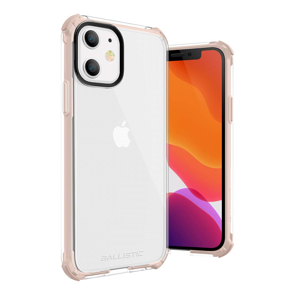 Ballistic iPhone 11 Clear Case Thin Slim Crystal Transparent Case, Protective Clear Bumper Case for iPhone 11 6.1', Pink