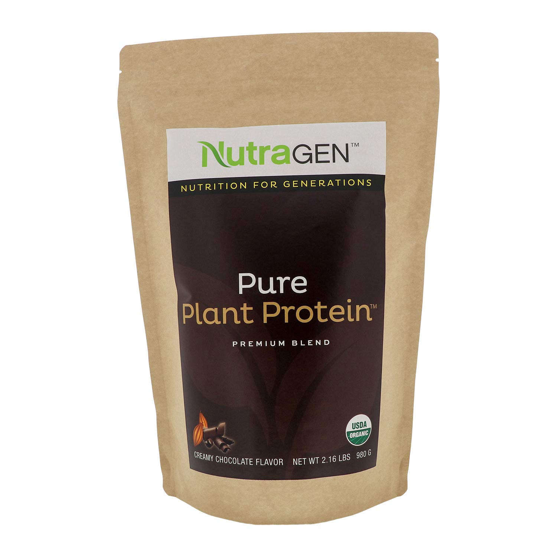 Nutragen - Pure Plant Protein, Organic Protein Powder (Chocolate, 2.16 lbs)