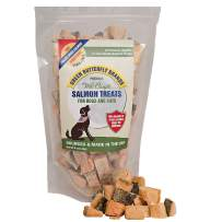 Green Butterfly Brands Salmon Dog Treats – Made in USA Only – 1 Ingredient: Wild Caught American Salmon – Freeze Dried Raw, Human Grade – No Additives or Preservatives - Grain Free Cat Snack, 5 Ounces