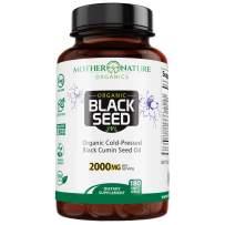 Organic Black Seed Oil 2000mg - 180 Softgel Capsules (Non-GMO) Premium Cold-Pressed Nigella Sativa - Black Cumin Seed Oil with Omega 3, 6, 9 - Darkest, Highest TQ Content