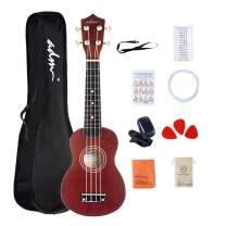 ADM Soprano Kids Ukulele 21 Inch for Beginner, Starter Ukelele Instrument Kit with Bag, Straps, Digital Tuner and strings