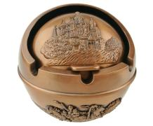 Winterworm Ancient Egyptian Style Pyramid of Pharaoh Pattern Spherical Pattern Ashtray Perfect Father's Day Dad Gift Home Decoration (Red Bronze)