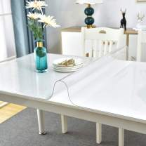 Facecozy Thick Clear Table Cover Protector Desk Pad Cover Plastic Vinyl Tablecloth Protector PVC Table Desk Pad for Coffee Table Writing Desk Kitchen (23.6 x 47.2 inches,Clear 1.3mm)