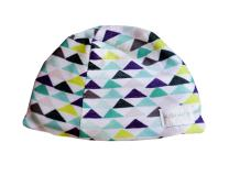 Hush Baby Hat with SoftSound Technology and Medical Grade Sound Absorbing Foam, Geo Triangles/Small