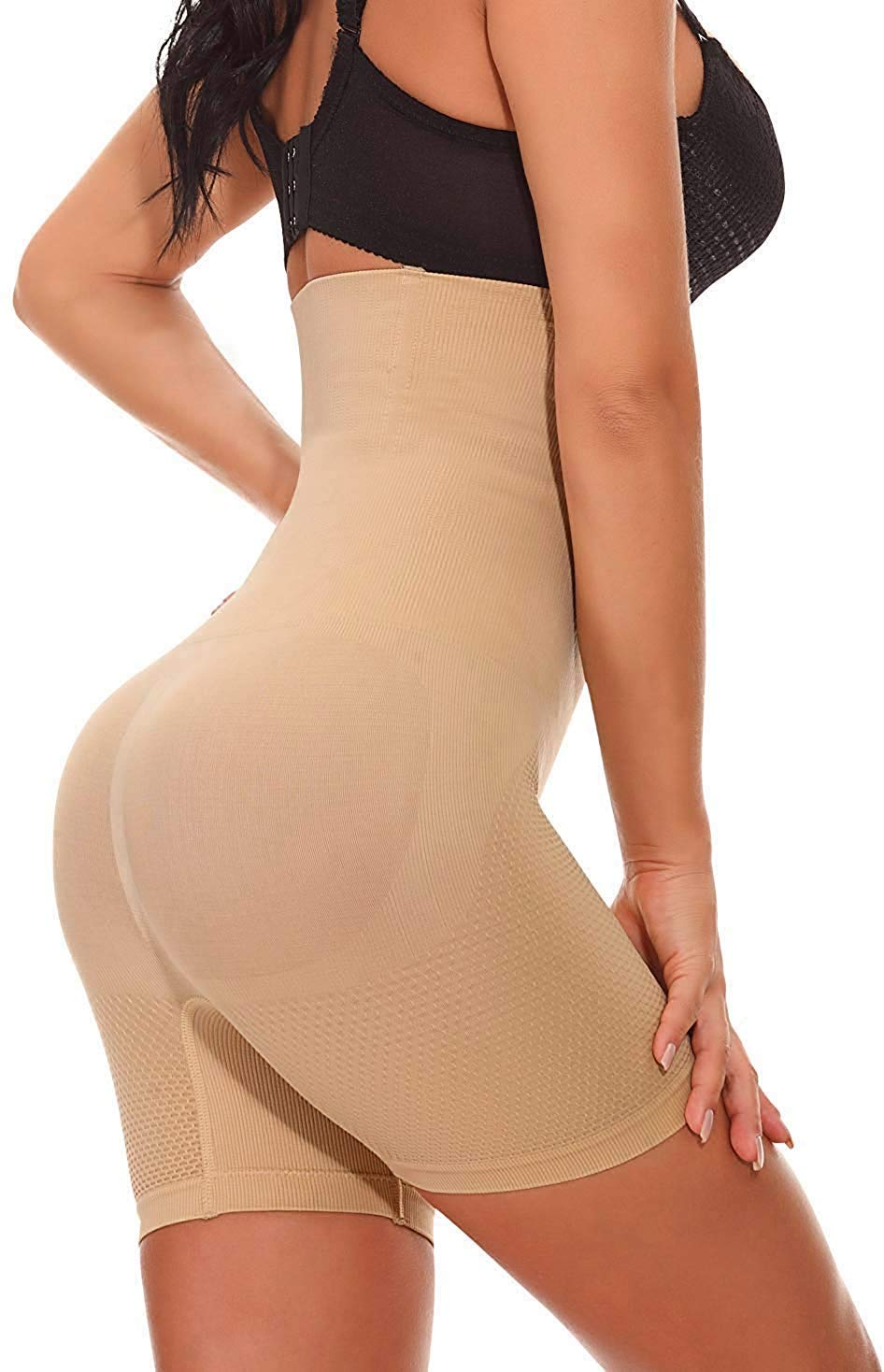 Larry&Marry Women Body Shaper Seamless Butt Lifter Shapewear Hi-Waist Waist Trainer Tummy Control Panty