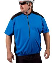 AERO|TECH|DESIGNS Big Man's Colossal Cycling Big Guy Bike Jersey with Back Pockets and Wicking Fabric Made in USA