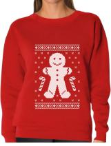 TeeStars - Gingerbread Man Ugly Christmas Cookie Sweater Funny Women Sweatshirt
