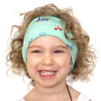Little Crowns NYC Premium Kids Headphones Headband Volume Limited - Comfortable Flexible Lycra - Ultra-Thin Speakers for Toddlers & Children for Traveling, School, Home – Trains, Planes, Cars - Unisex