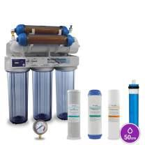 Max Water 6 Stage Reef Aquarium Reverse Osmosis System/Reverse Osmosis System/RO Water Filtration System/RO Water Purifier RODI System + HM Inline TDS Meter 150 GPD