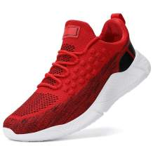 Men's Shock Cushioning Running Shoes - Comfortable Cushioning Lace-up Boost Shoes for Road Running Jogging