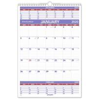 """AT-A-GLANCE 2020 Wall Calendar, 15-1/2"""" x 22-3/4"""", Large, Wirebound, 3-Month Display (PM628)"""