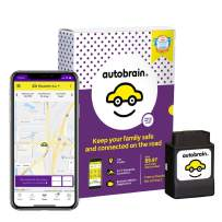 autobrain OBD Real-Time GPS Tracker for Vehicles | Auto Health Diagnostics | Parking Locator & Car Finder Tracker | Teen & Senior Driver Monitoring | 24/7 Emergency Assistance (6 Months of Service)
