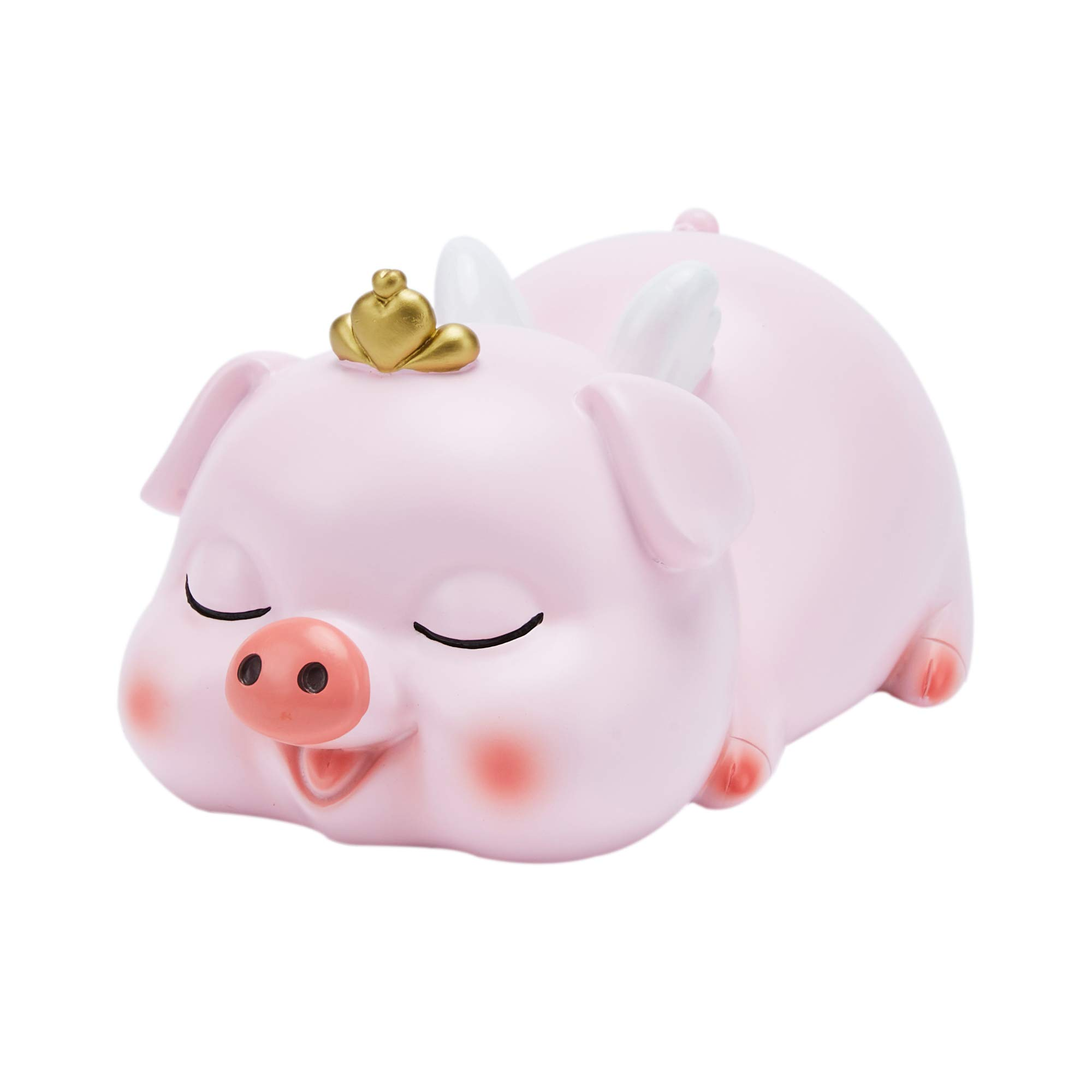 VANVENE Cute Piggy Bank for Girls, Pink Banks with Crown, Perfect Coin Bank Money Bank for Kids Girls Boys, for Children Birthday Gift Or As Home Decoration