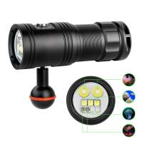 TrustFire DF30 150 Degree Diving Photography Video Flashlight 2350 Lumen Underwater Camera Dive Light with 32650 Rechargeable Battery