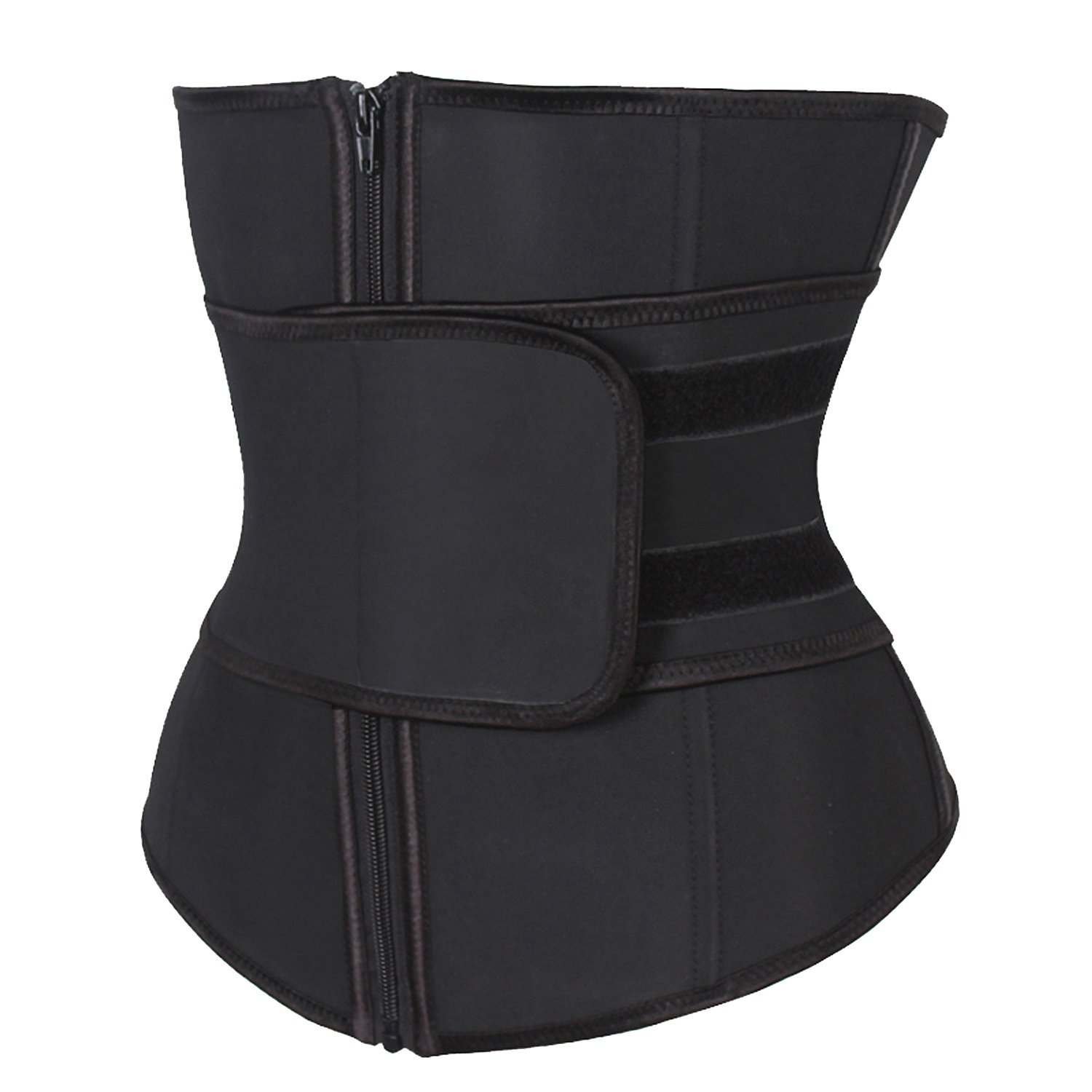 KIWI RATA Abdominal Belt High Compression Zipper Neoprene Waist Trainer Cincher Corset Body Fajas Sweat