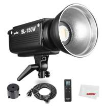 Godox SL-150W SL150W 5600K CRI 93+ 16 Channels LED Studio Continous Video Light with Bowens Mount for DSLR Camera + Remote Control