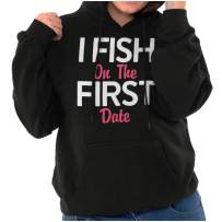 Fish On First Date Flirty Fishing Girls Hoodie