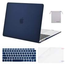 MOSISO MacBook Air 13 inch Case 2020 2019 2018 Release A2179 A1932 with Retina Display, Plastic Hard Shell&Keyboard Cover&Screen Protector&Storage Bag Compatible with MacBook Air 13, Navy Blue