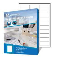 """Anylabel 30 UP 1"""" x 2-5/8"""" Easy Peel Shipping Address Labels for Laser/Ink Jet Printer Permanent Adhesive (500 Sheets, 15000 Labels)"""