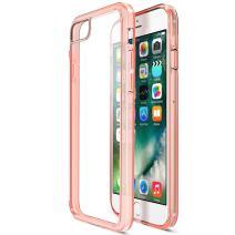 iPhone 8 Plus 7 Plus Case, Trianium [Clarium Series] Protective Cover for Apple iPhone 7 Plus / 8 Plus Case [Shock Absorption] Premium TPU Cushion + Hybrid Rigid Clear Back- Clear Rose Signature