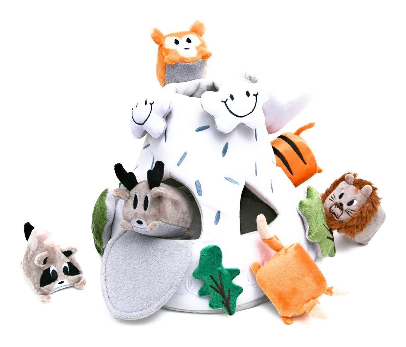 "OK!DZO 12"" Mountain & Animal Shape Sorter Plush Developmental Toy Set (16 pcs) - Cognitive & Motor & Social Skills - Fun Bright Colors & Textures for Babies 0-36 Months"