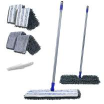 """MASTERTOP 2 in 1 Two-Sided 16.8"""" Chenille Microfiber Mop with Long Handle Magic Mop with 4 Free Replaceable Mop Head …"""