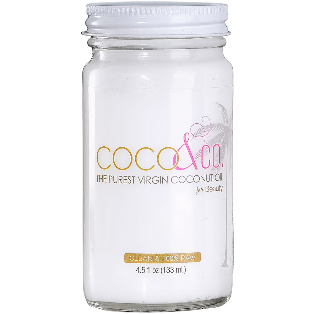 Pure Coconut Oil for Hair and Skin By COCO & CO. Clean, 100% RAW, Travel Size 4.5oz