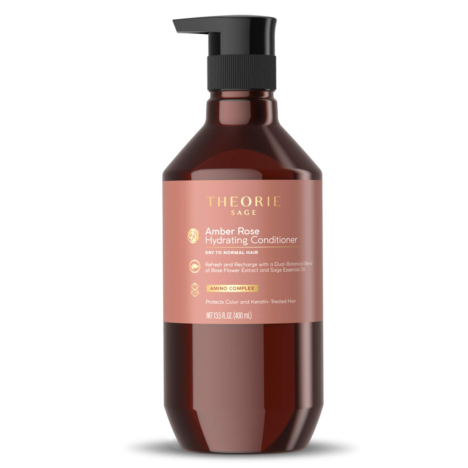 Theorie: Sage - Amber Rose - Hydrating Conditioner | Daily Refresh & Recharging For Dry to Normal Hair | Protects Color & Keratin Treated Hair, 400mL