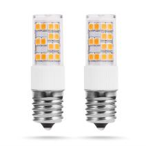 LED Light Bulbs E17 Base 60W Equivalent, JandCase 6W, 600lm, 33000K, Bulbs for Ceiling Fan, Not Dimmable, 2 Pack
