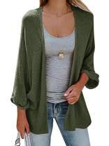 Gemijack Womens Plus Size Cardigan Sweaters Fall Open Front Long Sleeve Kimono Casual Knitted Outwears XL-5XL