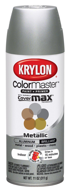 Krylon K05151902 ColorMaster Paint + Primer, Metallic, Aluminum, 11 oz.