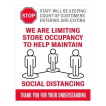 """Social Distancing Sign Style 10 (8.5"""" x 11"""")"""