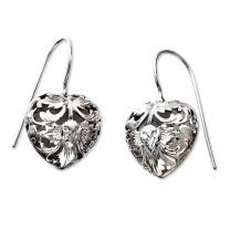 NOVICA .925 Sterling Silver Drop Earrings 'Flourishing Love'
