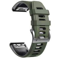 Notocity Compatible with Fenix 6 pro Watch Band for Fenix 6/Fenix 6 Pro/Fenix 5/Fenix 5 Plus/Forerunner 935/Forerunner 945/Approach S60/Quatix 5 (Army Green-Black)