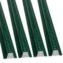 SmartSign U-Channel Sign Post, Heavy-Duty | 8' Tall Baked Enamel Steel Post - Pack of 4