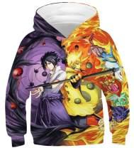joo meryer Kids Girls Boys 3D Novelty Dragon Ball Printed Pocket Hooded Pullover Sweatshirts Hoodies
