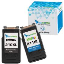 InkWorld Remanufactured Ink Cartridge Replacement for Canon 210XL 211XL Used with PIXMA IP2702 IP2700 MP230 MP240 MP250 MP270 MP280 MP460 MP480 MP490 MP495 MP499 MX320 MX330 (Black, Tri-Color)