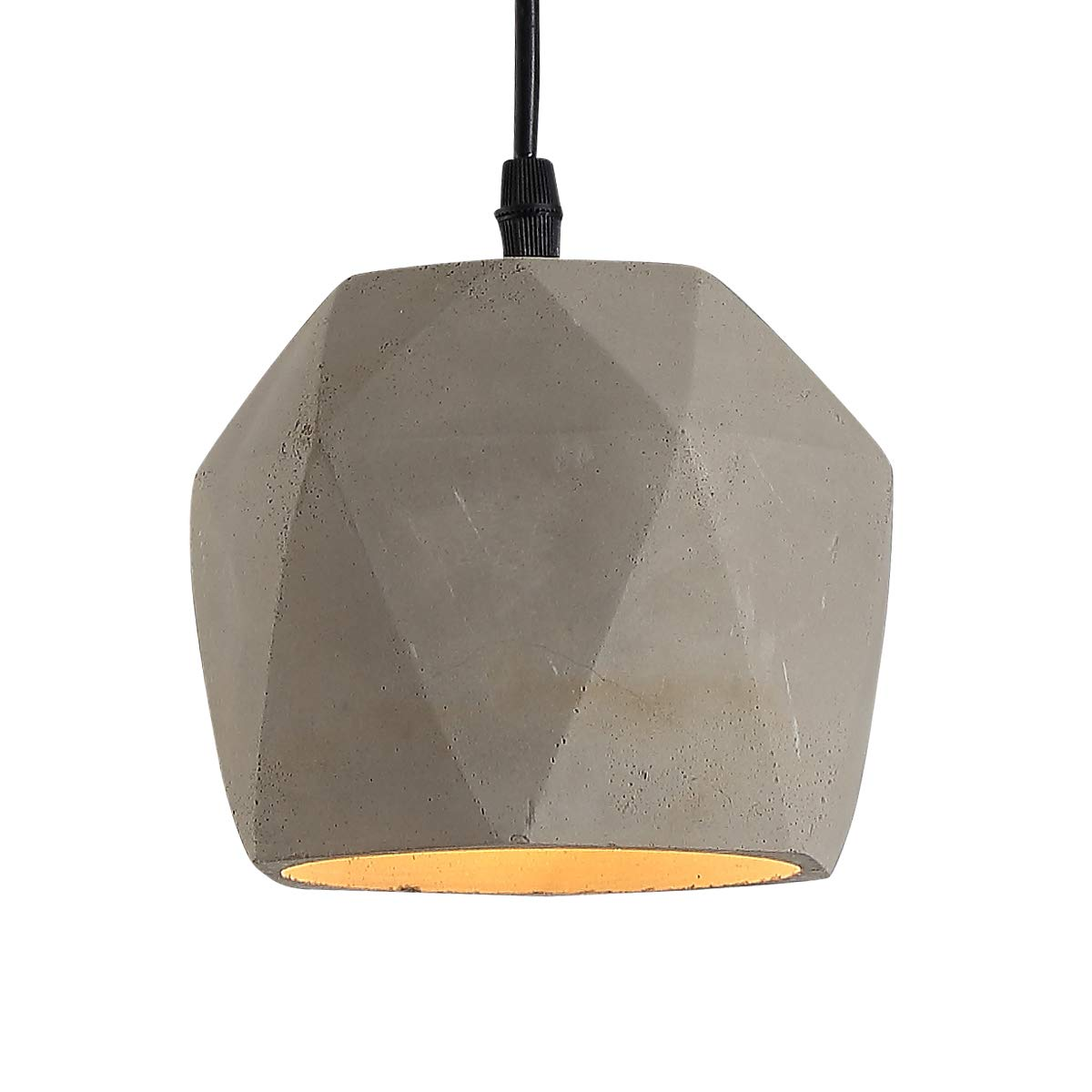 HOMIFORCE UL Listed Industrial Style 1-Light Adjustable Concrete Pendant Light with Cement Shade in Grey Finish-Modern Industrial Edison Style Hanging CL2017056 (Westphal Grey)