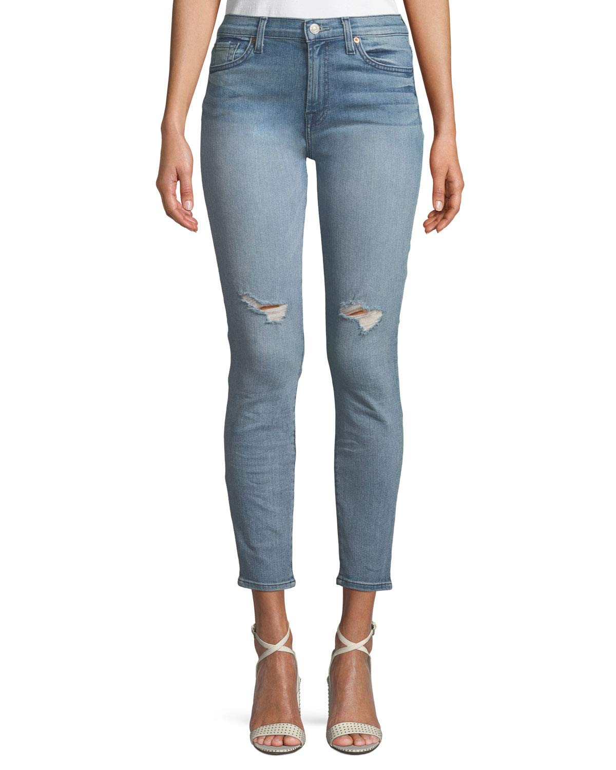 7 For All Mankind Women's Gwenevere Ankle Skinny Mid Rise Jean