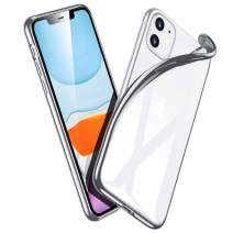 ESR Essential Zero for iPhone 11 Case, Slim Clear Soft TPU, Flexible Silicone Cover for iPhone 11 6.1-Inch (2019), Silver Frame