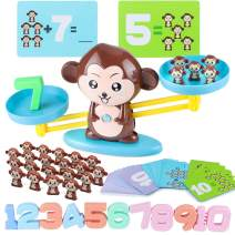CENOVE STEM Toys for 3+ Years Old Monkey Balance Math Game Educational Toys for Kids Montessori Toy for Girls & Boys Children's Gift Learning Toys Number(65-Piece Set)