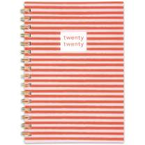 """Knot and Bow 2020 Weekly & Monthly Planner, 5-1/2"""" x 8-1/2"""", Small, Rocky Stripe (1295-200)"""